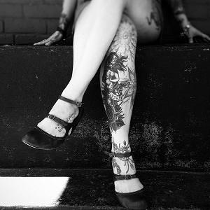 leg tattoo veins